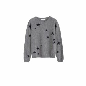 Chinti & Parker Grey Star Cashmere Sweater