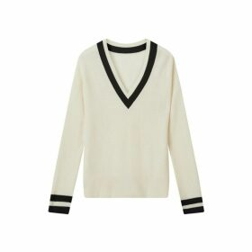 Jigsaw Monochrome Rib V Neck Sweater