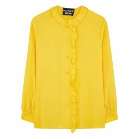Boutique Moschino Yellow Ruffle-trimmed Blouse