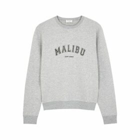 Saint Laurent Grey Printed Cotton-blend Sweatshirt