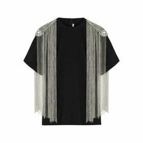 Christopher Kane Black Embellished Cotton T-shirt