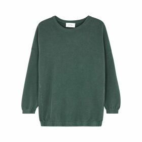 American Vintage Hapylife Green Stretch-cotton Sweatshirt