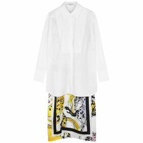 Stella McCartney Rayna White Split-back Cotton Shirt