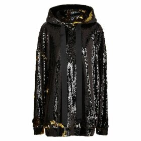 MARQUES' ALMEIDA Black And Gold Hooded Sequin Sweatshirt