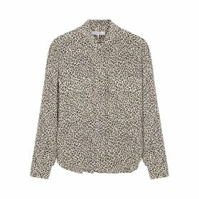 Frame Denim Safari Leopard-print Silk Shirt