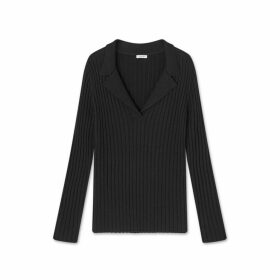 Jigsaw Flat Rib Collared Sweater