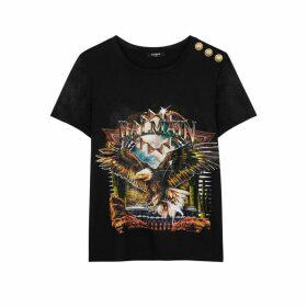 Balmain Black Printed Jersey T-shirt