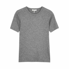 Rag & Bone Grey Ribbed Cotton-blend T-shirt