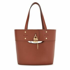 Chloé Aby Brown Leather Bucket Bag