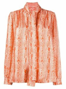 Marni pussy bow blouse - ORANGE