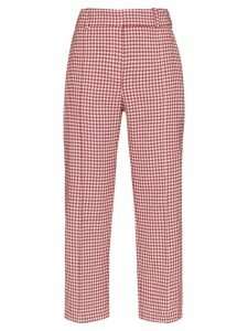 Alexandre Vauthier houndstooth cropped trousers - Red