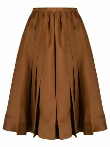 Rochas pleated midi skirt - Brown