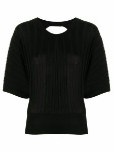 Pinko open back knit top - Black