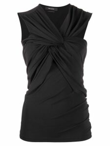 Isabel Marant twisted-front sleeveless top - Black