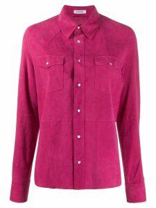 P.A.R.O.S.H. plain suede shirt - PINK