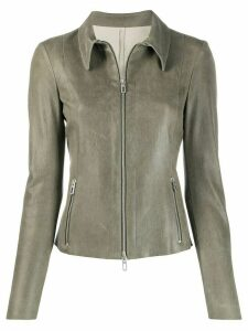 Drome fitted leather jacket - Green