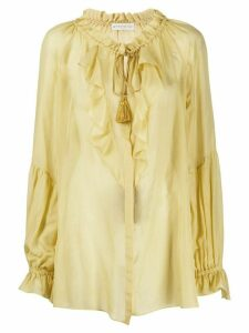Etro oversized ruffled blouse - Yellow