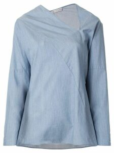 Palmer / Harding long-sleeve flared blouse - Blue