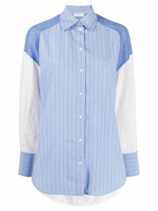 Sandro Paris Kim contrast sleeve shirt - White