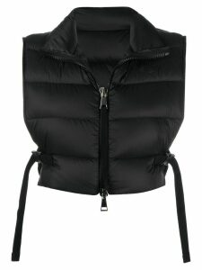 Moncler padded cropped gilet - Black