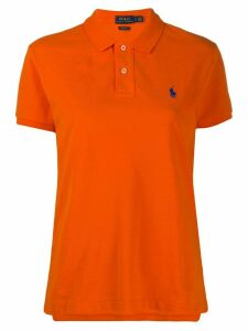 Polo Ralph Lauren embroidered polo shirt - ORANGE