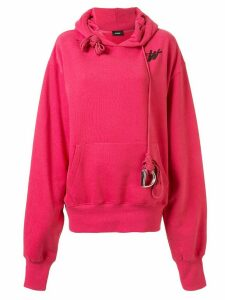 We11done oversized monogram logo hoodie - PINK