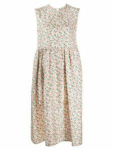 Marni floral printed silk dress - NEUTRALS