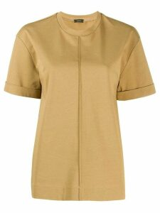 Joseph seam-detail boxy T-shirt - Brown