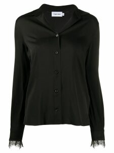Calvin Klein long sleeve blouse - Black