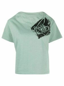 Vivienne Westwood Anglomania chest logo T-shirt - Green