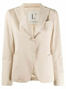 L'Autre Chose one-button fitted blazer - NEUTRALS