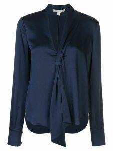 Jonathan Simkhai satin sash blouse - Blue