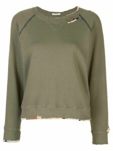 Mother The Square sweatshirt - Green