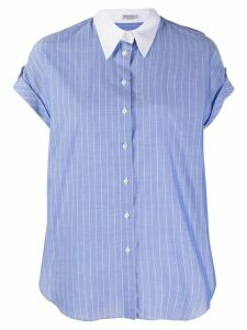 Brunello Cucinelli contrast pinstriped short-sleeved short - Blue