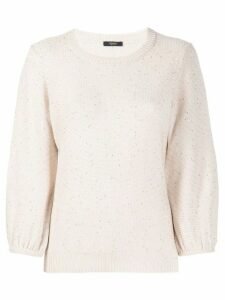 Peserico sequin-embellished jumper - NEUTRALS