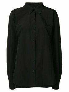 We11done dropped shoulder buttoned shirt - Black