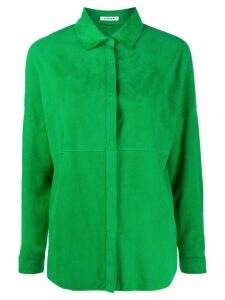 P.A.R.O.S.H. suede panel shirt jacket - Green
