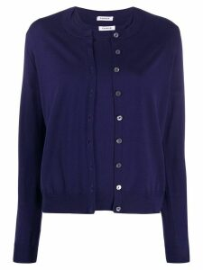 P.A.R.O.S.H. button-up crew neck cardigan set - Blue