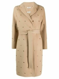 P.A.R.O.S.H. embellished trench coat - NEUTRALS