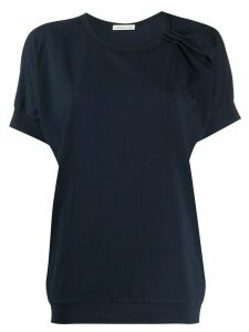 Stefano Mortari ruched detail short sleeve top - Blue