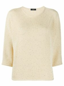 Peserico embellished relaxed jumper - Yellow