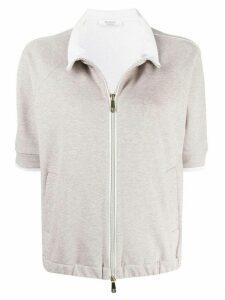 Peserico short-sleeved cardigan - NEUTRALS