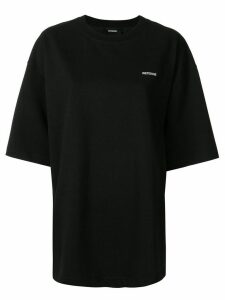 We11done oversized logo embroidered T-shirt - Black