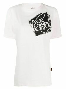 Vivienne Westwood Anglomania chest logo T-shirt - PINK