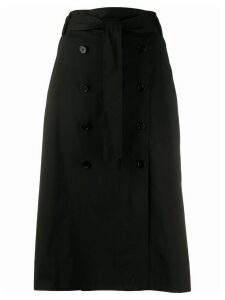 Steffen Schraut double breasted straight skirt - Black