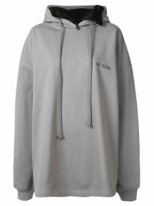 We11done oversized logo printed hoodie - Grey