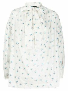 Vivienne Westwood Anglomania Garret floral blouse - White