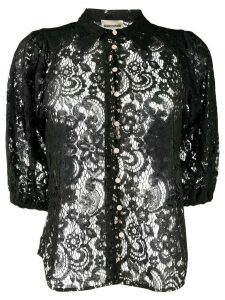 Semicouture sheer lace shirt - Black