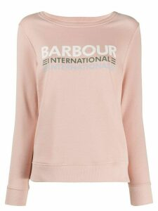 Barbour logo print sweatshirt - PINK