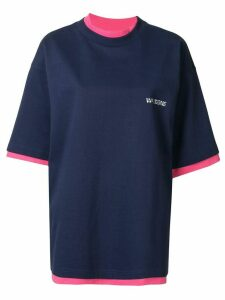 We11done colour blocked reversible T-shirt - Blue